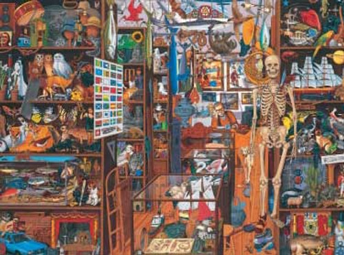 Double Challenge Sleepy Shopkeeper - 550pc Jigsaw Puzzle by Great American Puzzle Factory (discon)