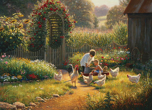Feeding Time - 1000pc Jigsaw Puzzle by Cobble Hill (discon-23357)
