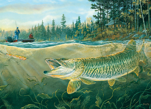 Muskie Bay - 1000pc Jigsaw Puzzle by Cobble Hill (discon-23360)