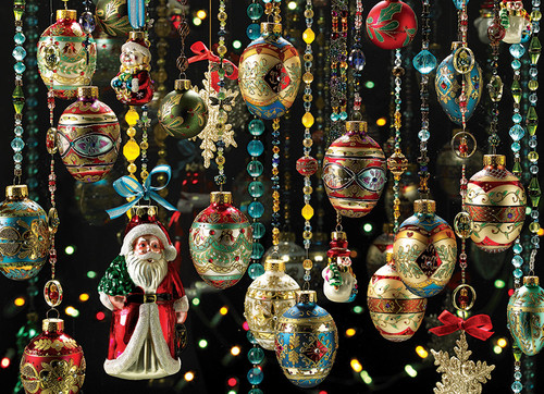 Christmas Ornaments - 1000pc Jigsaw Puzzle by Cobble Hill (discon)