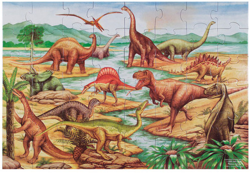 Melissa and Doug Floor Jigsaw Puzzles For Kids - Dinosaurs