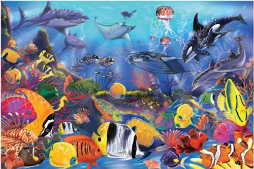 Melissa and Doug Floor Jigsaw Puzzles For Kids - Underwater