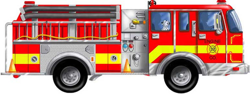 Melissa and Doug Floor Jigsaw Puzzles For Kids - Giant Fire Truck