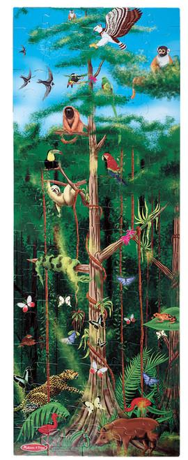 Melissa and Doug Floor Jigsaw Puzzles For Kids - Rain Forest