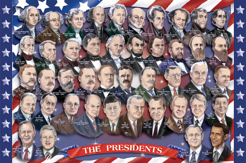 Melissa and Doug Floor Jigsaw Puzzles For Kids - American Presidents