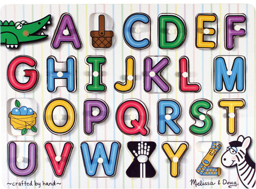 Alphabet Jigsaw Puzzles for Kids - See-Inside Alphabet Peg