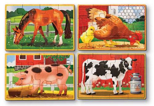 Wooden Jigsaw Puzzles - Farm Animals