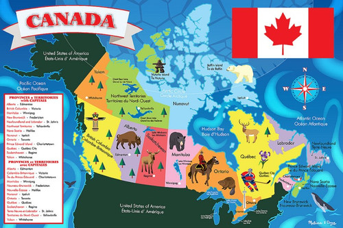 Melissa and Doug Floor Puzzles - Canada Map
