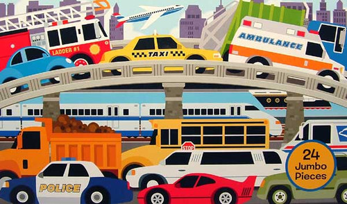 Melissa and Doug Floor Jigsaw Puzzles For Kids - Traffic Jam