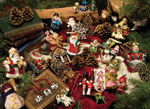 Cobble Hill Jigsaw Puzzles - Christmas Ornaments