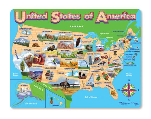 Melissa & Doug USA Map Frame Jigsaw Puzzle