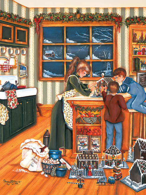 Cobble Hill Large Format Jigsaw Puzzles - Gingerbread Makers