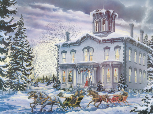 Cobble Hill Large Format Jigsaw Puzzles - Christmas at Kilbride