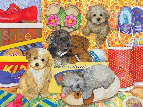 Hush Puppies - 400pc Family Puzzle by Cobble Hill