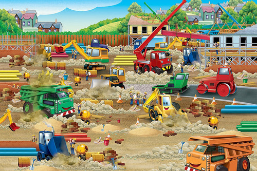 Construction Zone - 36pc Floor Puzzle by Cobble Hill