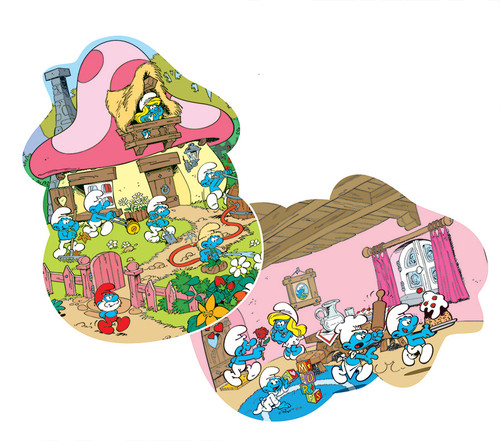 Smurfette's House - 24pc Floor Puzzle by Cobble Hill
