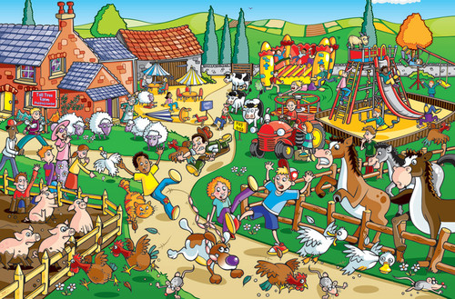 Puppy on the Loose - 60pc Kids Puzzle by Cobble Hill (discon-23438)