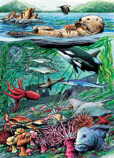 Cobble Hill Children's Puzzles - Life on the Pacific Ocean