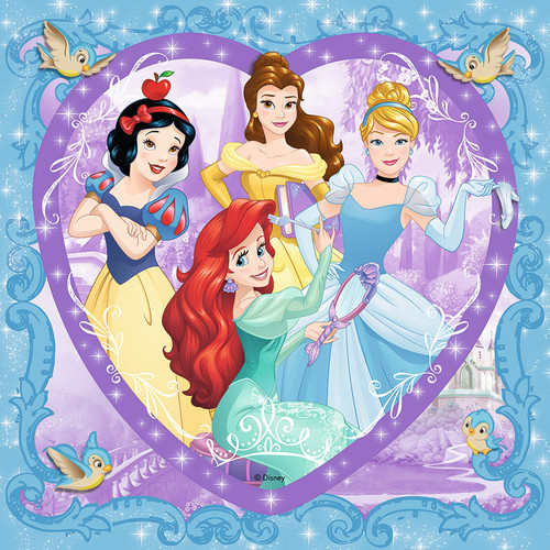 Lovely Disney Princesses - 150pc Heart Shaped Puzzle by Ravensburger (discon)
