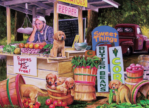 Cobble Hill Children's Puzzles - Puppies For Free