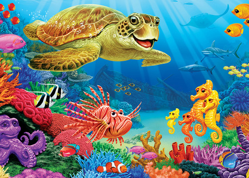 Undersea Turtle - 35pc Tray Puzzle by Cobble Hill