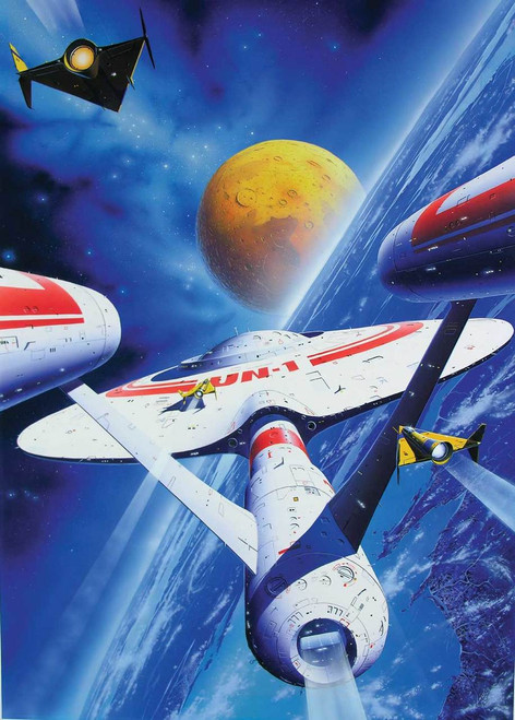 Space Voyage - 300pc Jigsaw Puzzle By Ravensburger (discon)