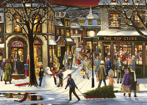 Downtown Christmas - 35pc Tray Puzzle by Cobble Hill