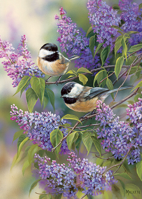 Chickadee Duo - 35pc Tray Puzzle by Cobble Hill