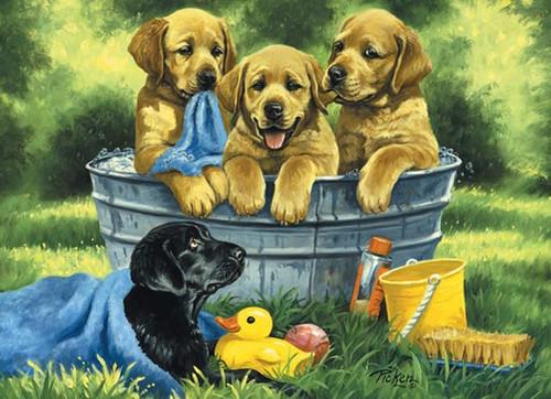 Cobble Hill Children's Puzzles - Puppy Bath