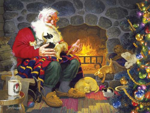 Santa's Pet Palace - 1000pc Jigsaw Puzzle By Sunsout (discon)