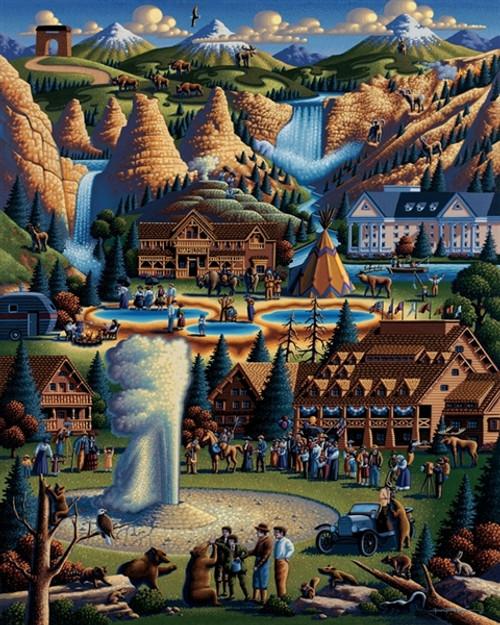 Dowdle Jigsaw Puzzles - Yellowstone