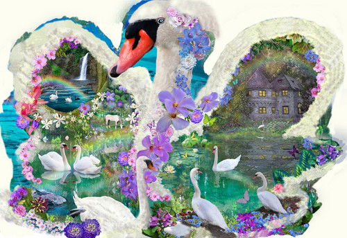 Shaped Jigsaw Puzzles - Swan Dreams