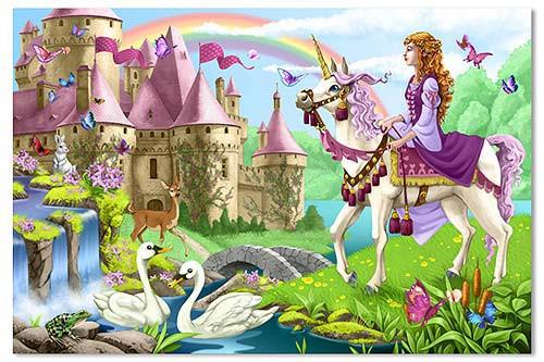 Melissa and Doug Floor Puzzles - Fairy Tale Castle