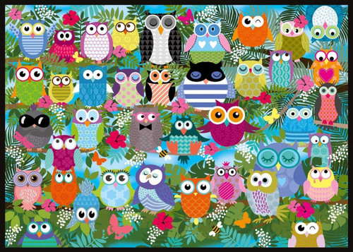 Collage of Owls II - 1000pc Jigsaw Puzzle by Schmidt