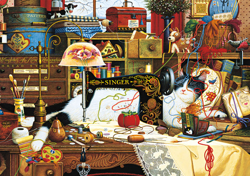 Charles Wysocki: Maggie the Messmaker - 300pc Large Format Jigsaw Puzzle by Buffalo Games