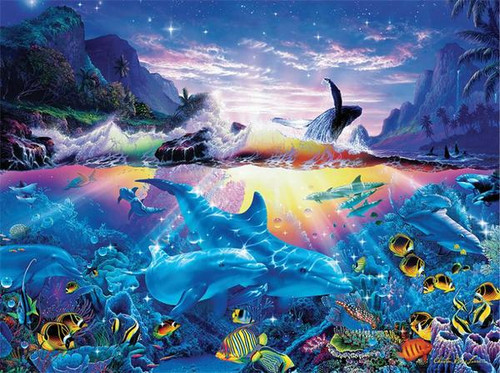 Christian Riese Lassen: Ocean Dance - 1000pc Jigsaw Puzzle by Ceaco