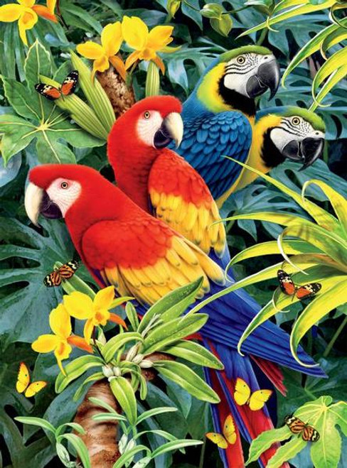 Wild: Majestic Macaws - 1000pc Jigsaw Puzzle by Ceaco