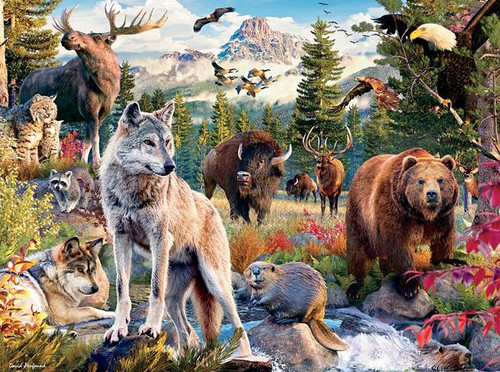 Wild: American Animals - 1000pc Jigsaw Puzzle by Ceaco
