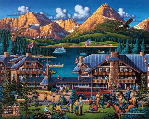 Glacier National Park - 500pc Jigsaw Puzzle by Dowdle