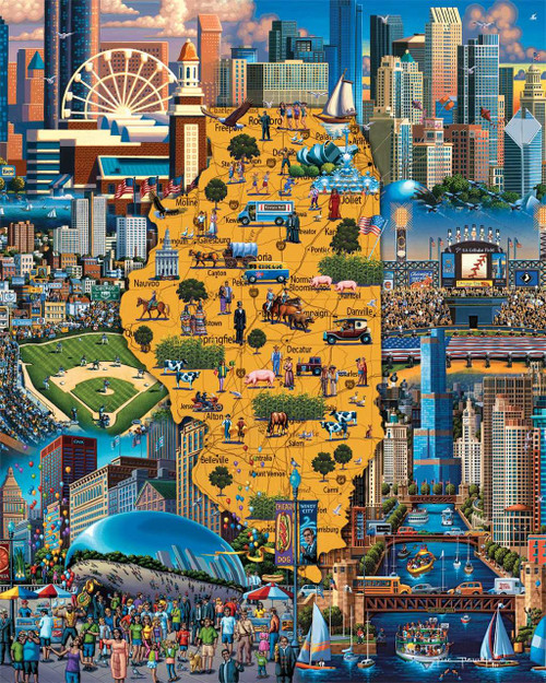 Best of Chicago - 500pc Jigsaw Puzzle by Dowdle