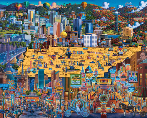 Best of Tennessee - 500pc Jigsaw Puzzle by Dowdle