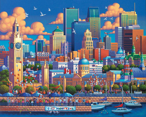 Montreal - 1000pc Jigsaw Puzzle by Dowdle