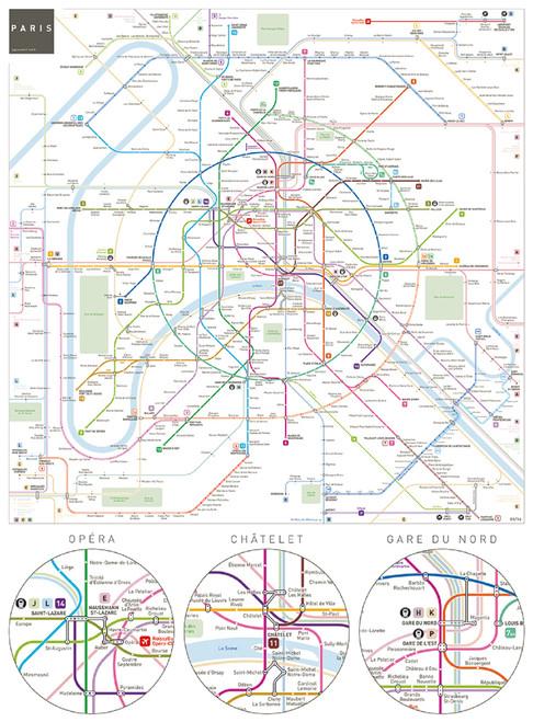 Aquarius Puzzles Subway Map.Paris Metro 500pc Jigsaw Puzzle By Aquarius