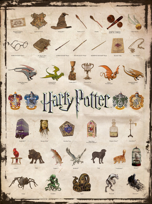 Harry Potter: Icons - 1000pc Jigsaw Puzzle by Aquarius