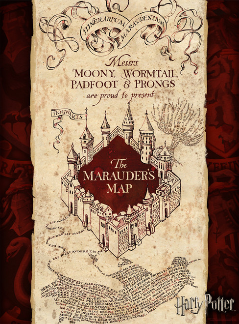 Harry Potter: Marauder's Map - 1000pc Jigsaw Puzzle by Aquarius