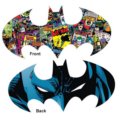 Batman Logo - 600pc Double-sided Shaped Jigsaw Puzzle by Aquarius