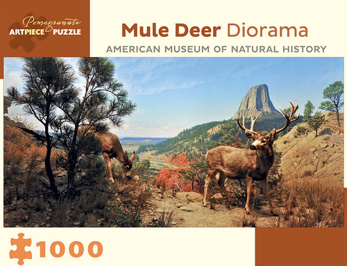 Mule Deer Diorama - 1000pc Jigsaw Puzzle by Pomegranate