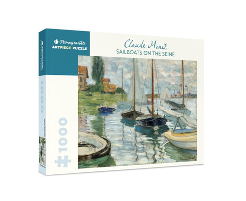 Monet: Sailboats on the Seine - 1000pc Jigsaw Puzzle by Pomegranate