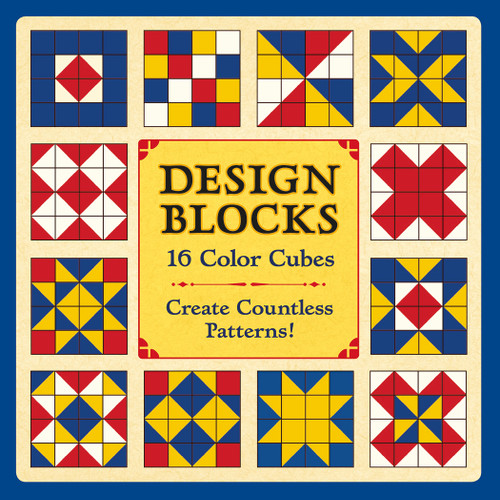 Design Blocks: 16 Color Cubes - 16pc Block by Pomegranate