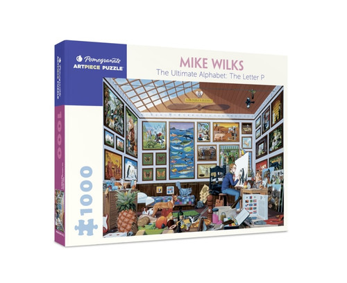 Wilks: The Ultimate Alphabet: The Letter P - 1000pc Jigsaw Puzzle by Pomegranate